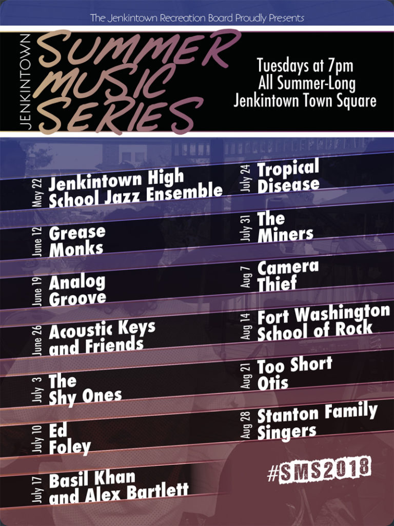 Jenkintown Summer Music Series -Schedule