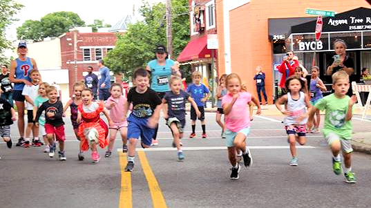 Kids racing - Jenkintown 5K Race