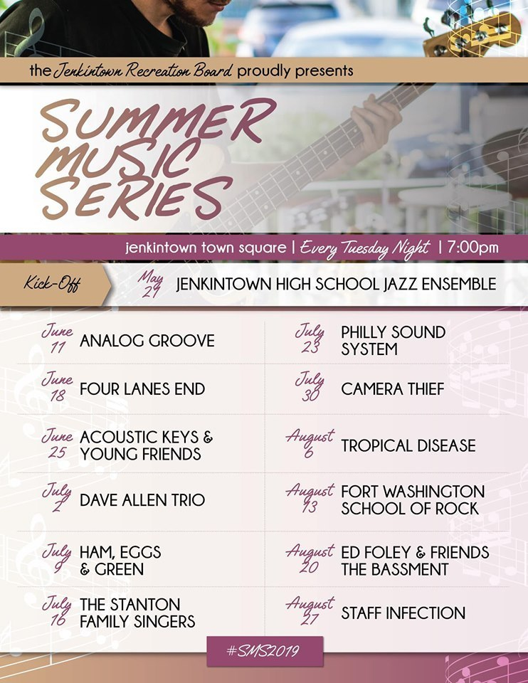 Jenkintown Summer Music Series Schedule